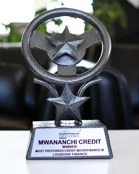 Mwananchi Credit won the most preferred credit microfinance in logbook finance