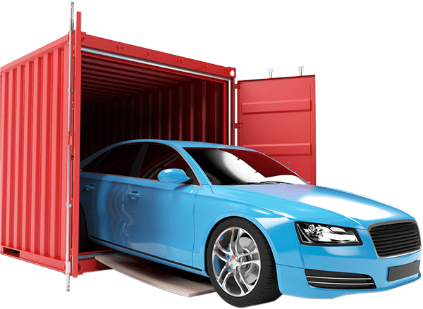 car inside of a container