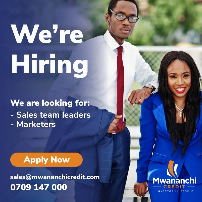 WE ARE HIRING – SALES TEAM LEADERS AND AGENTS (KISUMU BRANCH)