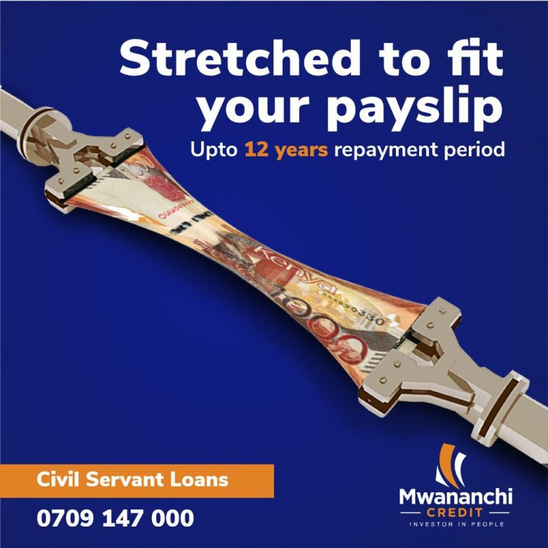 Salary Loans in Nairobi, Kisumu, Eldoret, Mombasa Now Up to 12 Years